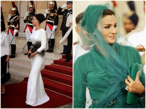 HRH Sheikha Mozah World Universe Ladies Model High Couture Dress First Lady PM Wife Prime Minister President Malta Doctor Gozo Clinic Private Medical Health Care Maltese Islands Sheikh Qatar Centre Fashion Style